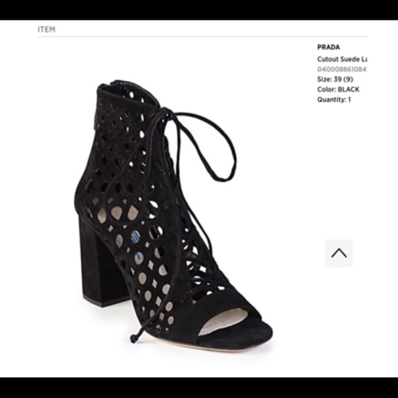 "64a1074aa68 Prada Authentic Suede Gladiator Tie Sandals- 4"" h.  M 5aae8000f9e501b9e631cbb1"